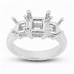 Square Princess-Cut Center Ring Mountings