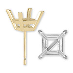 Square Princess Shape Ear Studs