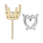 Heart Shape Ear Studs