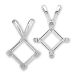 Square Princess Shape Pendants