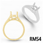 Round Crosswire Solitaire Ring