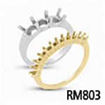 Round .03ct Shared-Prong Diamond Band