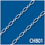 Flat Oval Round Cable 2.5mm Thick Bulk Chain