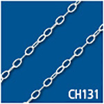 Flat Oval Cable 2.3mm Thick Bulk Chain
