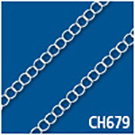 Twisted Open Cable 3.5mm Thick Bulk Chain