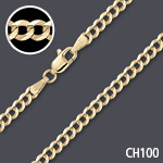 Round Omega 1.5mm Thick Chain