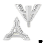 Triangle V-Prong Tapered Peg Setting