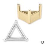 Triangle 3-Prong Solid Base Setting
