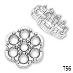 7-Stone Round Edge Cluster Top Setting