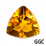 Genuine Citrine Trillion Gemstone
