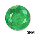 Genuine Emerald Round Gemstone