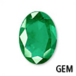 Genuine Emerald Oval Gemstone