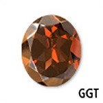 Genuine Garnet Oval Gemstone