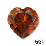 Genuine Garnet Heart Gemstone