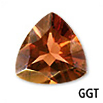 Genuine Garnet Trillion Gemstone