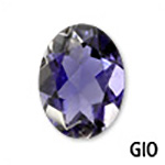 Genuine Iolite Oval Gemstone