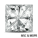 Square Asscher-Cut Moissanite