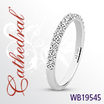 Cathedral 2.3mm Wide .45tw Diamond Band