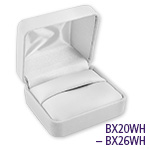 White Leatherette Jewelry Gift Box