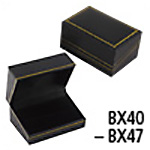 Black Faux Leatherette Jewelry Gift Box