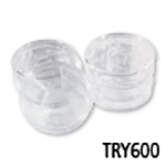 Round Clear Plastic Tray 6-Piece Set