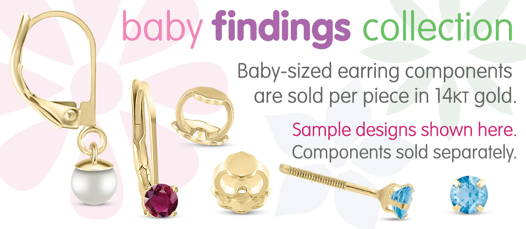 Baby Earring Findings Collection