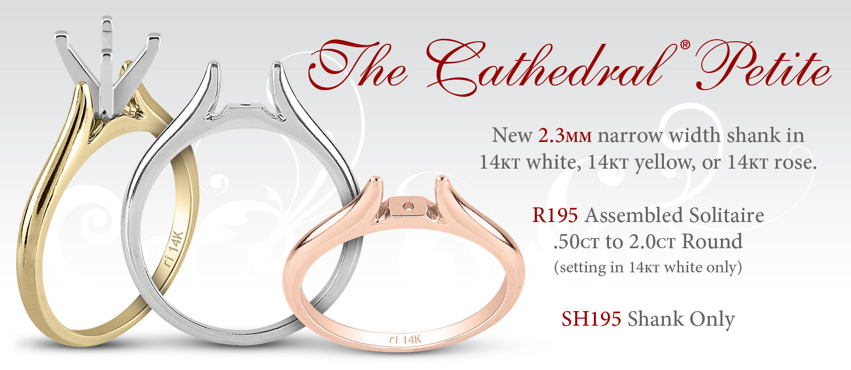 The Cathedral Petite Solitaire Ring